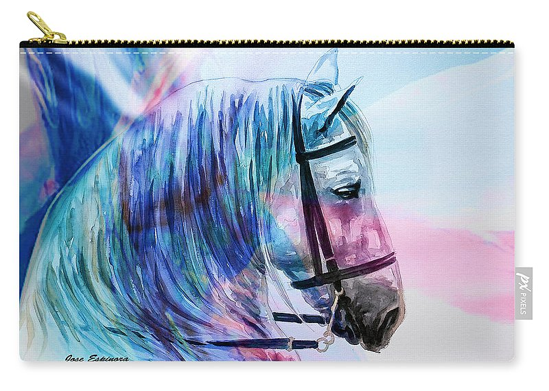 Cavallo Carry-all Pouch featuring the digital art A . P . O . L . O by J - O  N  E