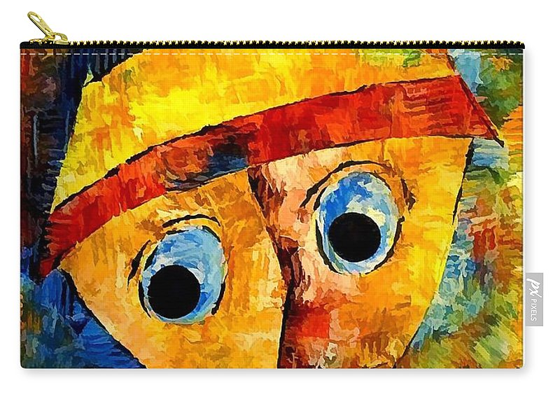 Abstraction Carry-all Pouch featuring the digital art Abstraction 3203 by Marek Lutek