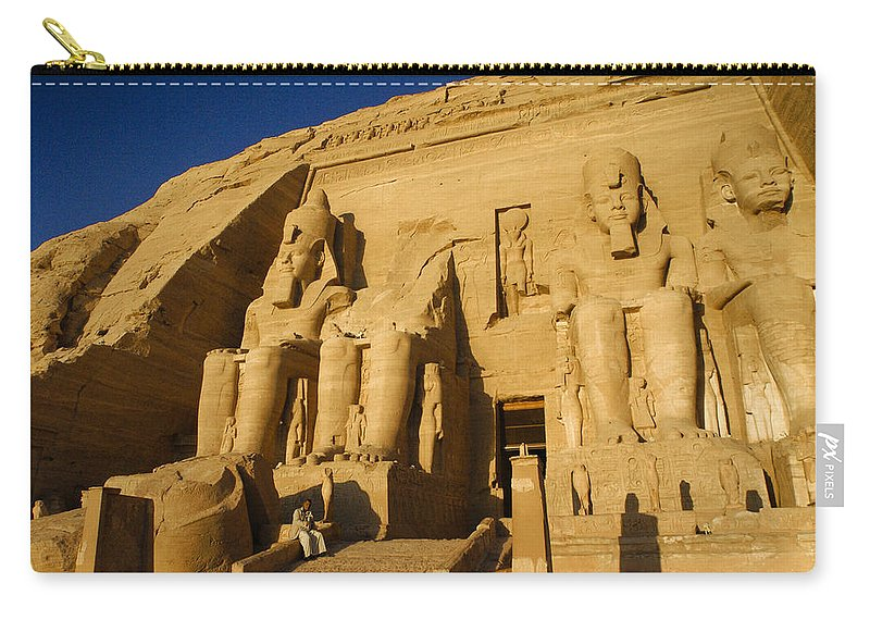 Egypt Carry-all Pouch featuring the photograph Abu Simbel by Michele Burgess