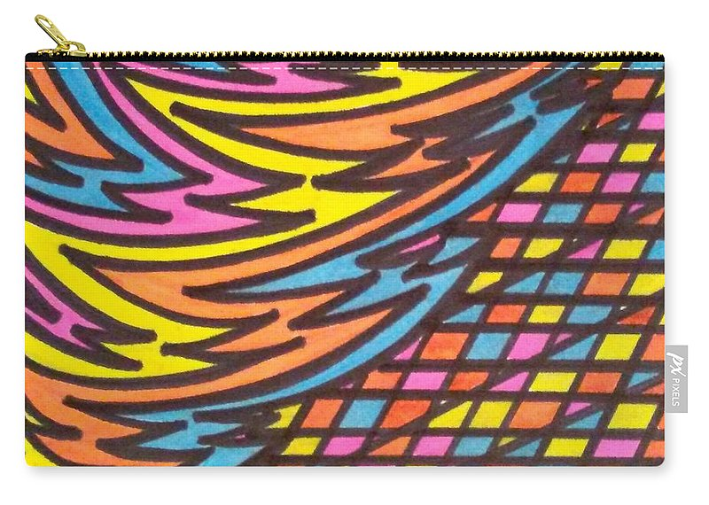 Aceo Carry-all Pouch featuring the drawing Aceo Abstract Design by Jill Christensen