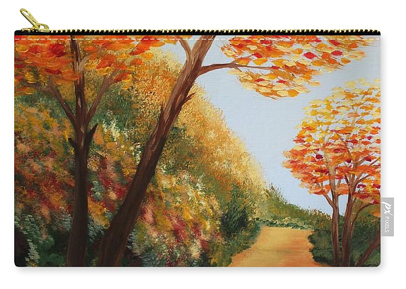 Originals Carry-all Pouch featuring the painting Acrylic Msc 164 by Mario Sergio Calzi