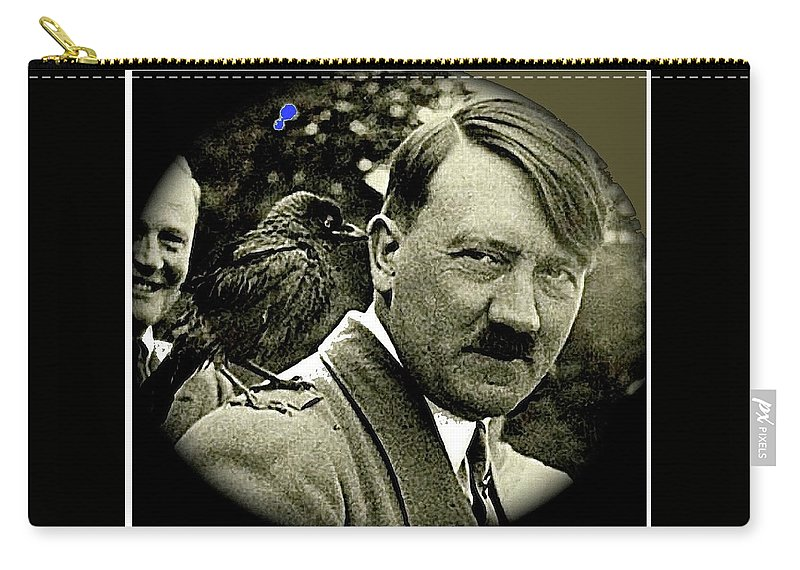 Adolf Hitler And A Feathered Friend C.1941-2008 Carry-all Pouch featuring the photograph Adolf Hitler And A Feathered Friend C.1941-2008 by David Lee Guss