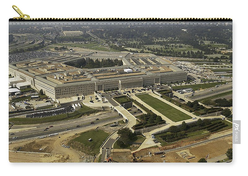 Building Carry-all Pouch featuring the photograph Aerial Photograph Of The Pentagon by Stocktrek Images