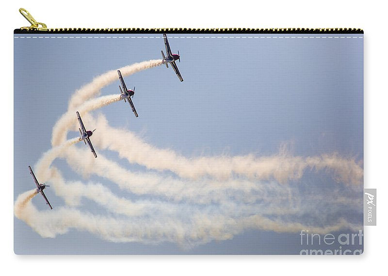 2015 Carry-all Pouch featuring the photograph Aerobatic Group Formation by Mariusz Prusaczyk