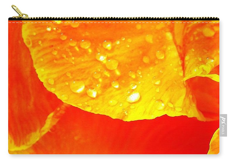 Flower Carry-all Pouch featuring the photograph After The Rain ... by Juergen Weiss