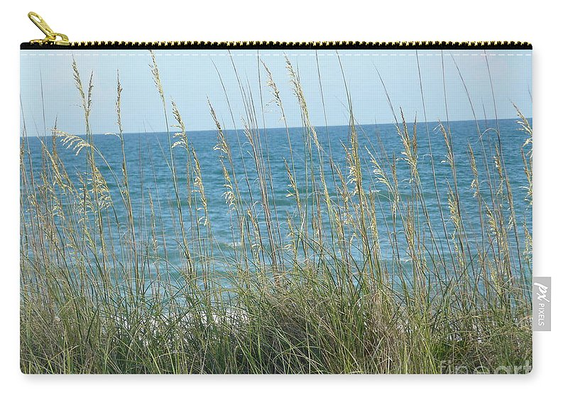 Beach Carry-all Pouch featuring the photograph Afternoon At The Beach by Barb Montanye Meseroll