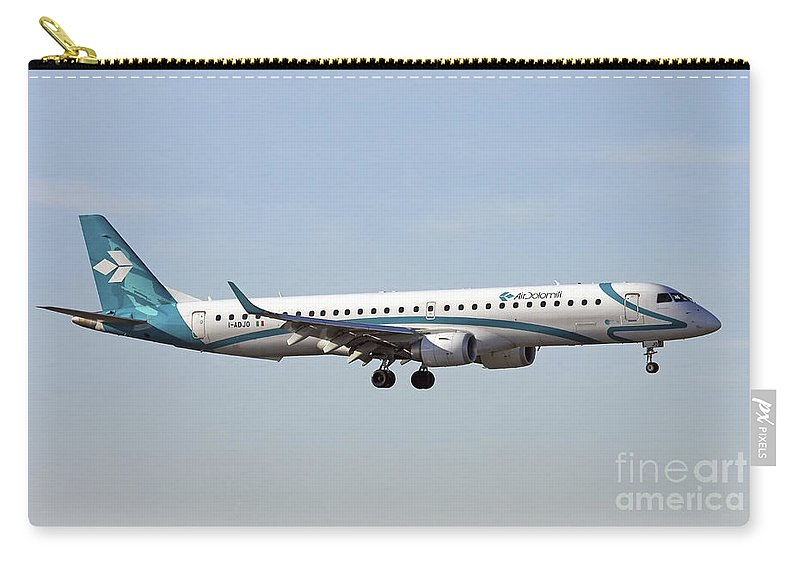 Air Dolomiti Carry-all Pouch featuring the photograph Air Dolomiti, Embraer Erj-195 by Amos Dor