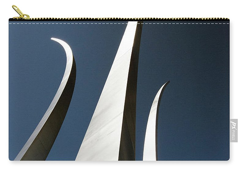 Air Force Memorial Carry-all Pouch featuring the photograph Air Force Monument - Arlington by Paul W Faust - Impressions of Light