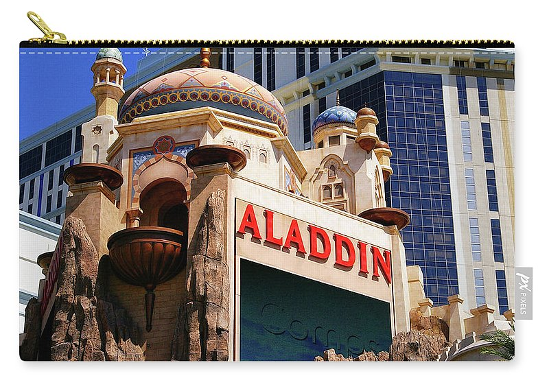 Aladdin Carry-all Pouch featuring the photograph Aladdin Hotel Casino by Mariola Bitner