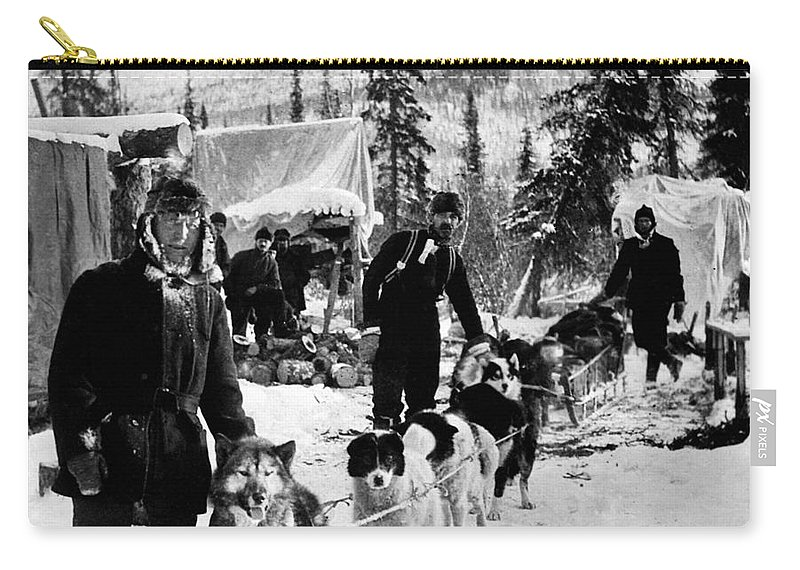 1900 Carry-all Pouch featuring the photograph Alaskan Dog Sled, C1900 by Granger