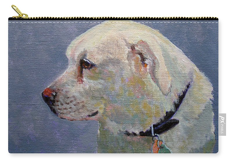 Dog Carry-all Pouch featuring the painting Alex by Keith Burgess