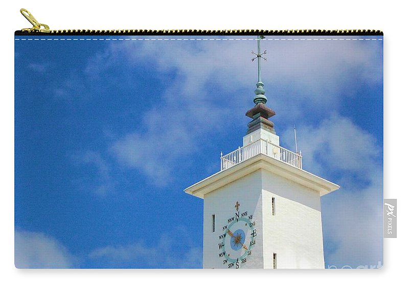 Clock Carry-all Pouch featuring the photograph All Along The Watchtower by Debbi Granruth