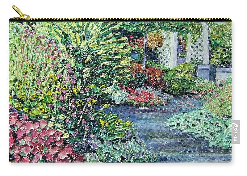 Garden Carry-all Pouch featuring the painting Amelia Park Pathway by Richard Nowak