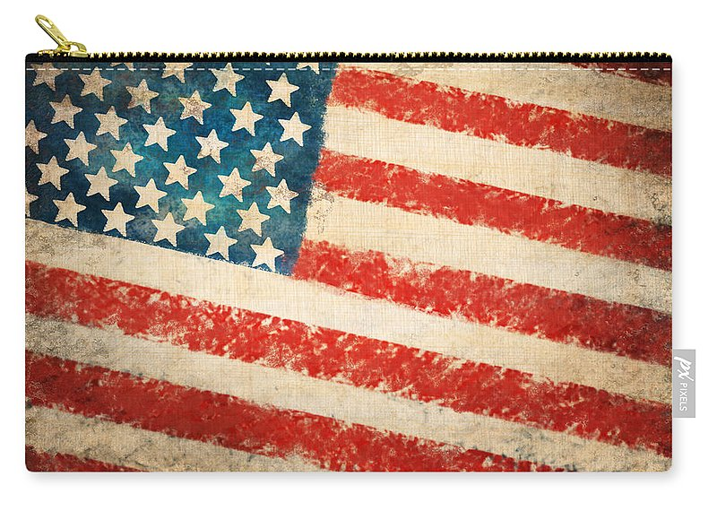 4th Carry-all Pouch featuring the painting America Flag by Setsiri Silapasuwanchai
