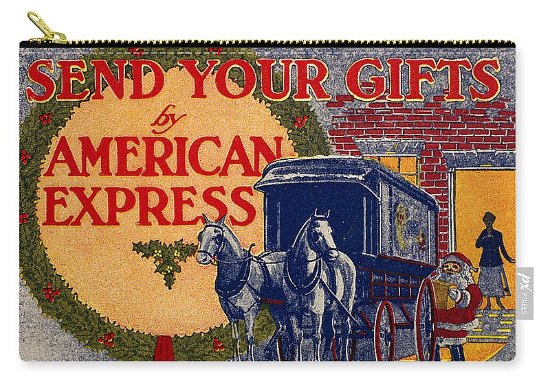 1917 Carry-all Pouch featuring the photograph American Express Shipping by Granger