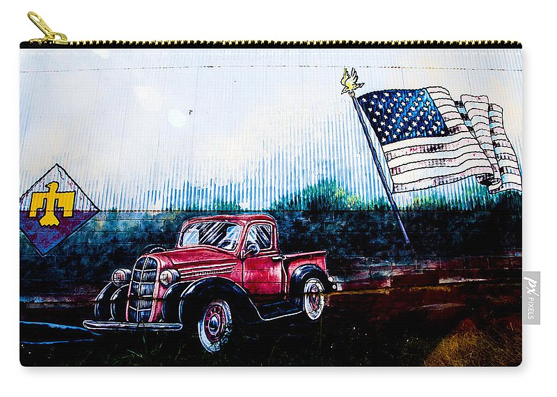 Route 66 Carry-all Pouch featuring the photograph American Pride by Angus Hooper Iii