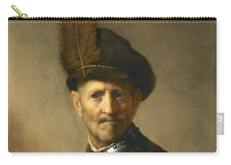 Rembrandt Carry-all Pouch featuring the painting An Old Man In Military Costume by Rembrandt