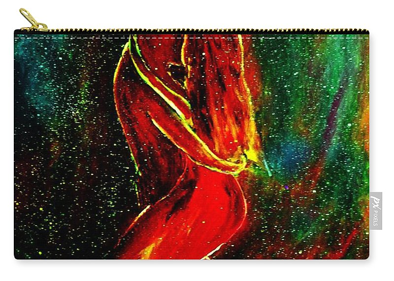 Dance Carry-all Pouch featuring the mixed media And They Danced by Robin Monroe