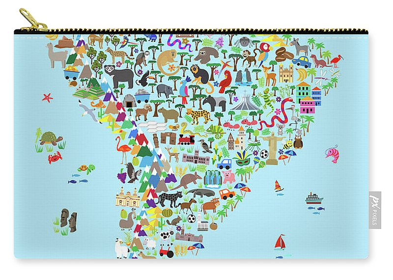 Animal Map Of South America For Children And Kids Carry-all Pouch on playas n. america, rivers america, map italy, map europe, funny america, ohio state america, states in america, latin america, map mexico, map canada, north america, atlas america, map belize, club america, central america, map georgia, vincennes map america, map australia, physical map america,