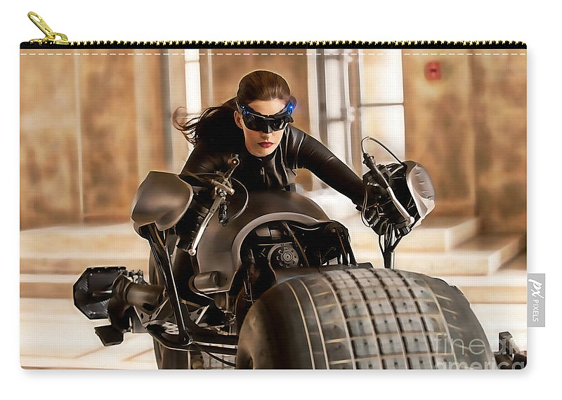 Ann Hathaway Carry-all Pouch featuring the mixed media Ann Hathaway Collection by Marvin Blaine