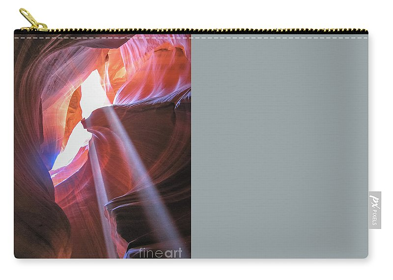 Antelope Canyon Carry-all Pouch featuring the photograph Antelope Canyon Arizona by Benny Marty
