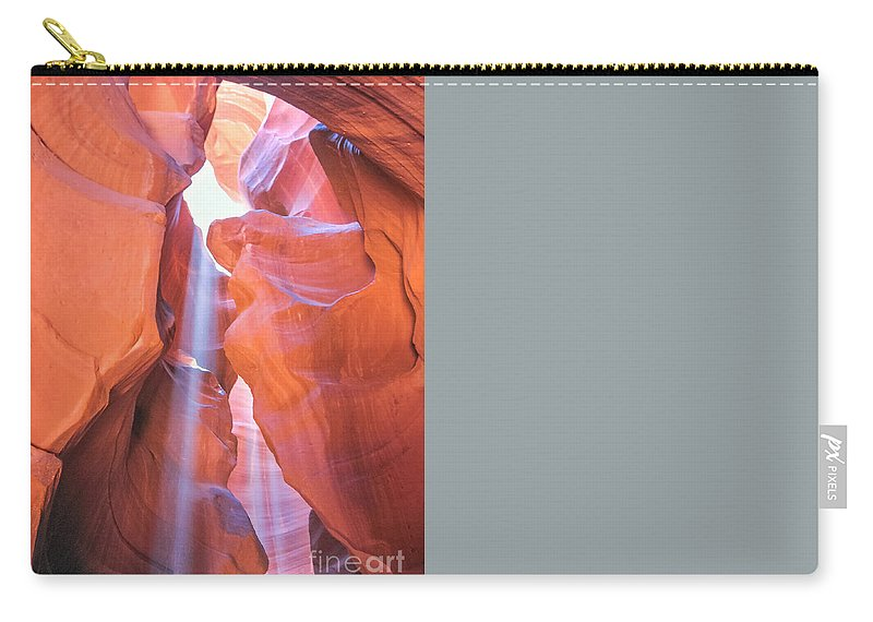 Antelope Canyon Carry-all Pouch featuring the photograph Antelope Canyon Vertical by Benny Marty