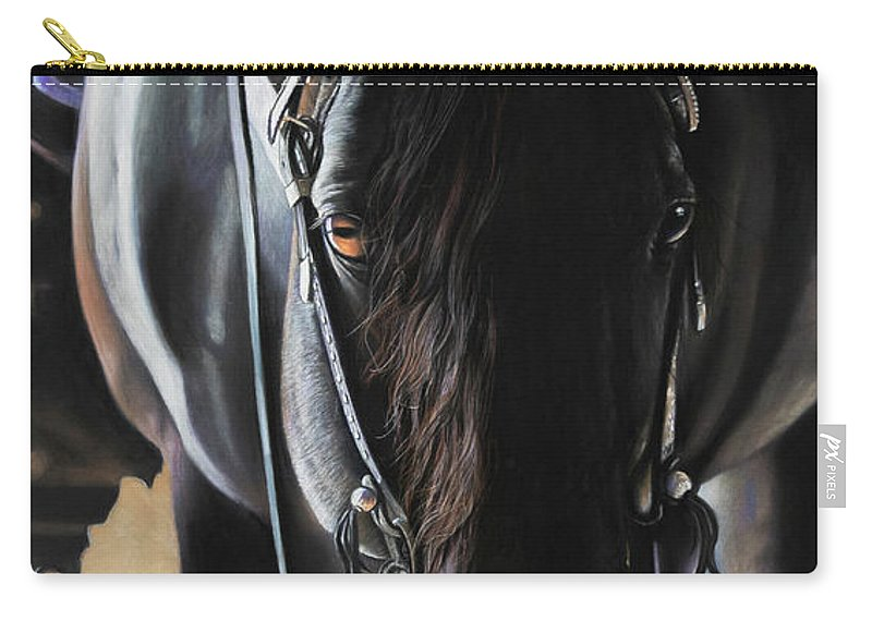 Aqha Carry-all Pouch featuring the pastel Any Time...Any Place by Joni Beinborn
