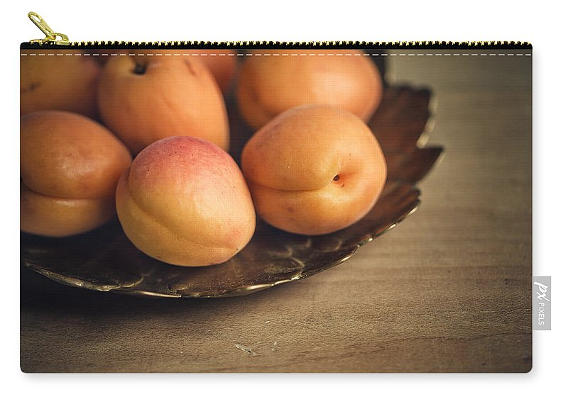 Apricot Carry-all Pouch featuring the photograph Apricots by Nailia Schwarz