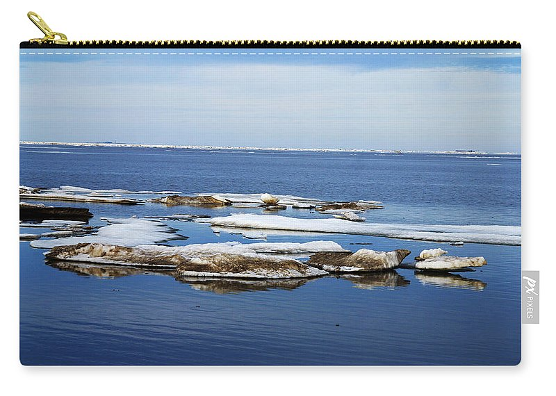 Ice Carry-all Pouch featuring the photograph Arctic Ice by Anthony Jones