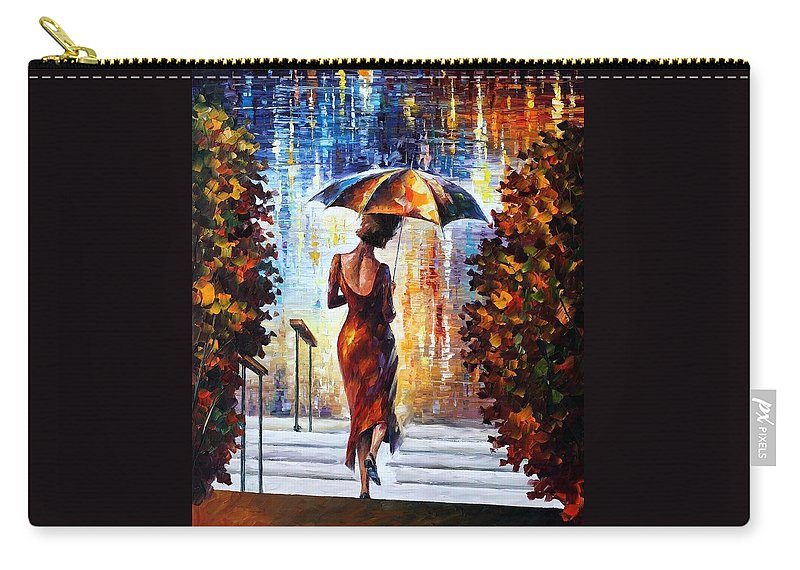 Afremov Carry-all Pouch featuring the painting At The Steps by Leonid Afremov