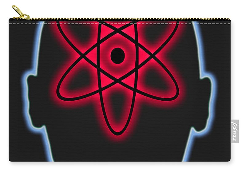 Nuclear Energy Carry-all Pouch featuring the photograph Atom Diagram by George Mattei