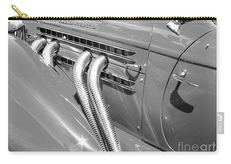 Auburn Carry-all Pouch featuring the photograph Auburn Boattail Speedster by Neil Zimmerman