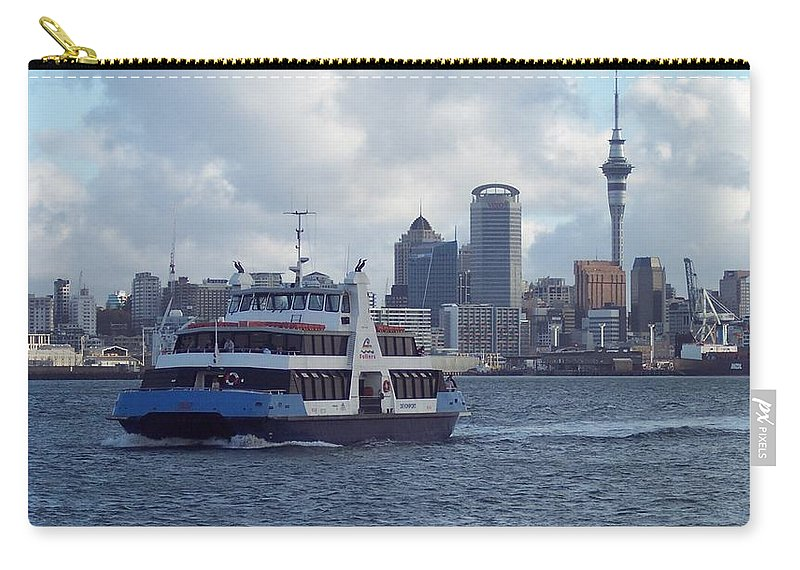 New Zealand Carry-all Pouch featuring the photograph New Zealand - Devonport Ferry by Jeffrey Shaw