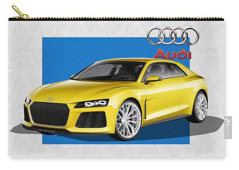 �audi� Collection By Serge Averbukh Carry-all Pouch featuring the photograph Audi Sport Quattro Concept With 3 D Badge by Serge Averbukh