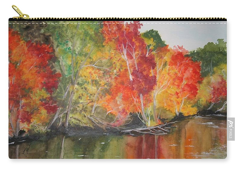Autumn Carry-all Pouch featuring the painting Autumn Splendor by Jean Blackmer