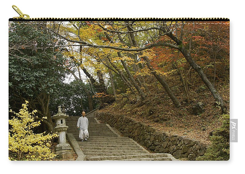 Asia Carry-all Pouch featuring the photograph Autumn Stairway by Michele Burgess