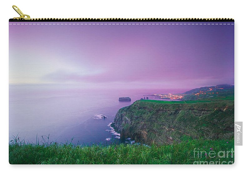 Azoren Carry-all Pouch featuring the photograph Azores Coastal Landscape by Gaspar Avila