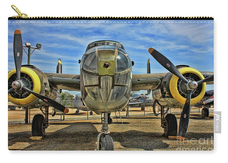 North American B-25 Mitchell Carry-all Pouch featuring the photograph B-25 Mitchell by Tommy Anderson