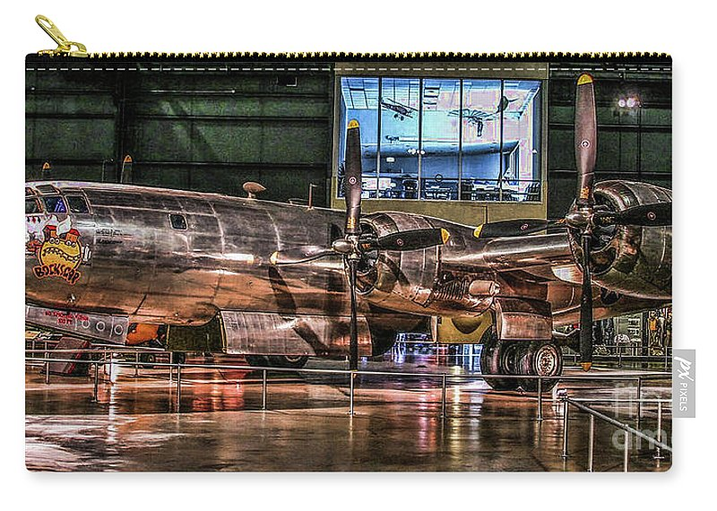 Usaf Museum Carry-all Pouch featuring the photograph B-29 Bockscar by Tommy Anderson