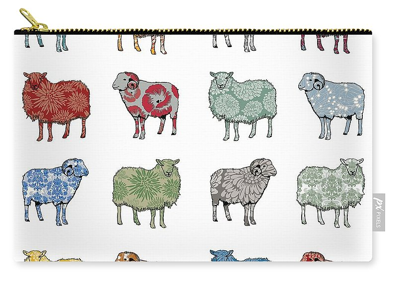 Sheep Carry-all Pouch featuring the digital art Baa Humbug by Sarah Hough