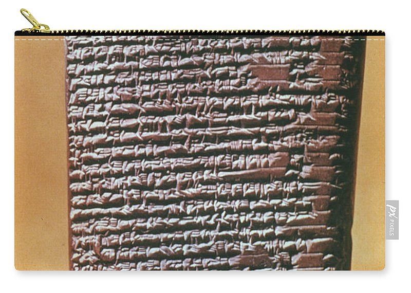 6th Century B.c. Carry-all Pouch featuring the photograph Babylonian Clay Tablet by Granger