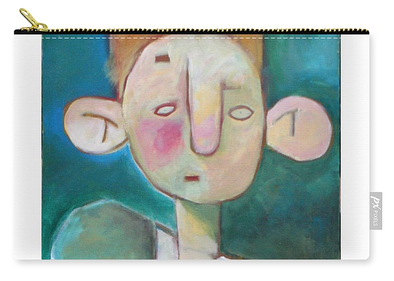 Funny Carry-all Pouch featuring the painting Bad Hair Life by Tim Nyberg
