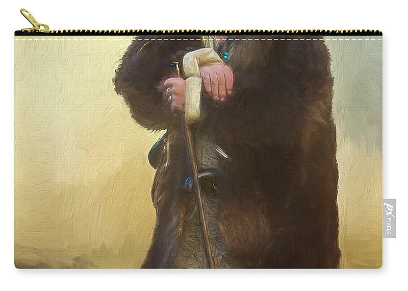 American Mountain Men Carry-all Pouch featuring the photograph Badger Lv by Debi Boucher