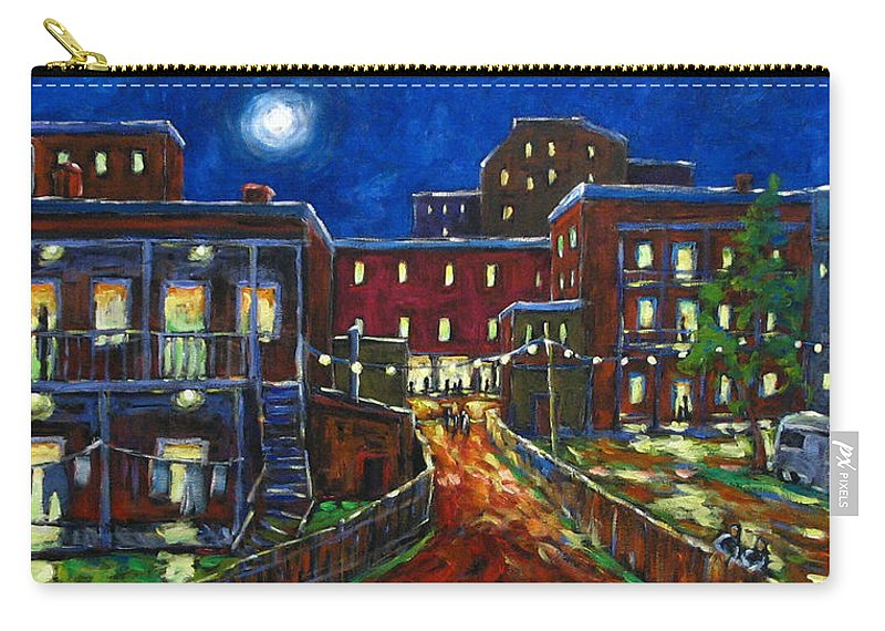 Town Carry-all Pouch featuring the painting Balconville by Richard T Pranke