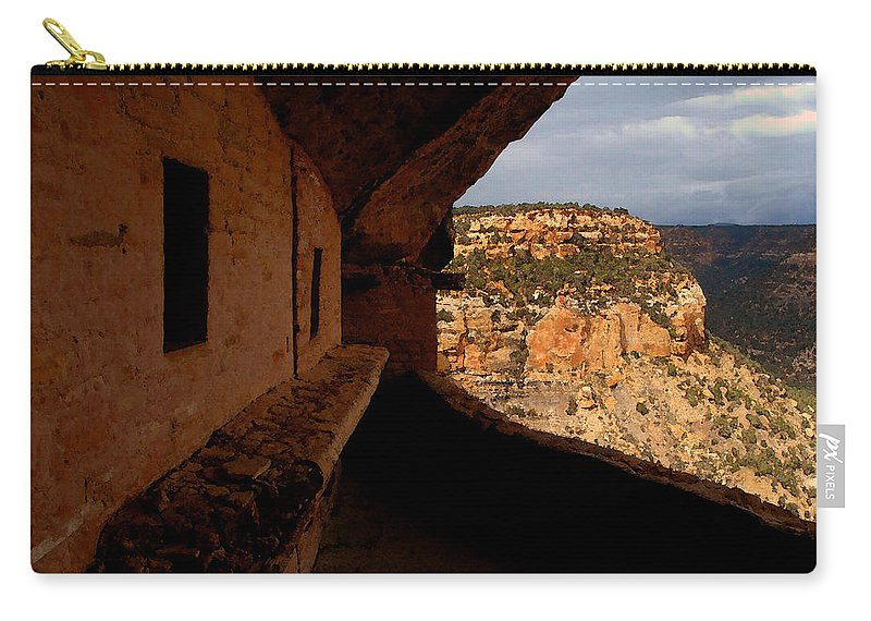 Art Carry-all Pouch featuring the painting Balcony House by David Lee Thompson