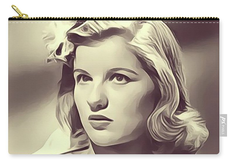 Barbara Carry-all Pouch featuring the digital art Barbara Bel Geddes, Vintage Actress by John Springfield