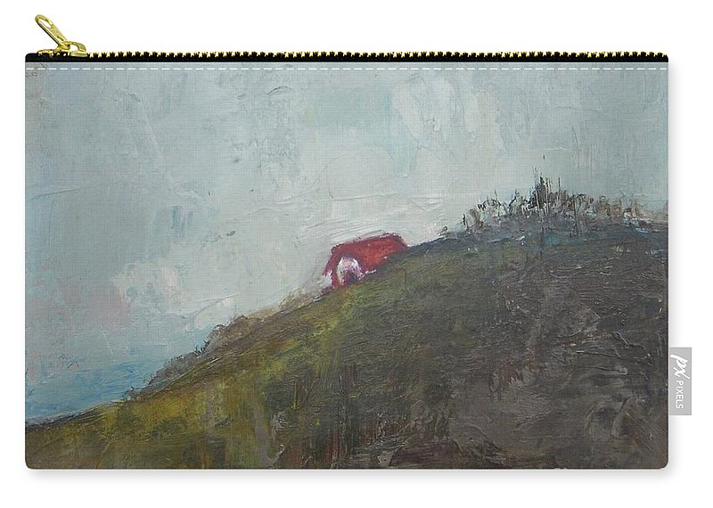 Barn Carry-all Pouch featuring the painting Barn On The Hill by Vesna Antic