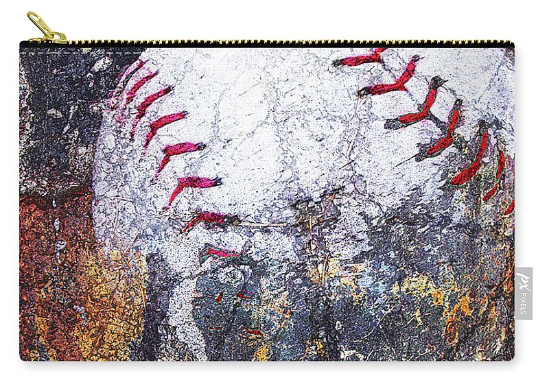 Carry-all Pouch featuring the digital art Baseball Art Version 6 by Takumi Park