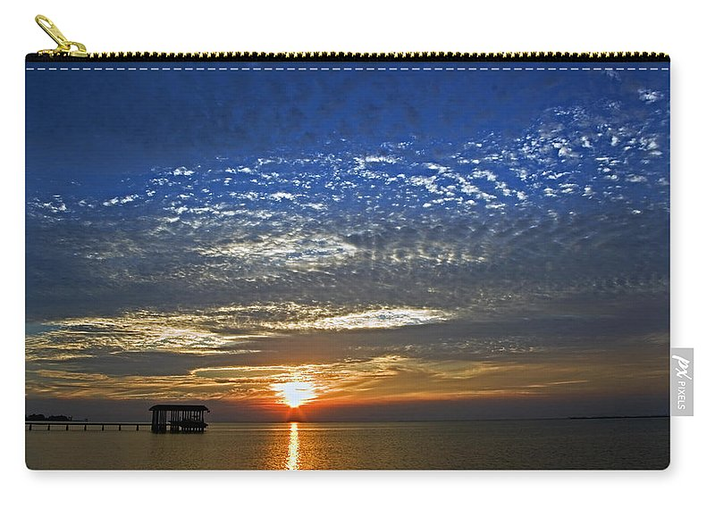Sky. Carry-all Pouch featuring the photograph Bay Sunset by Robert Brown