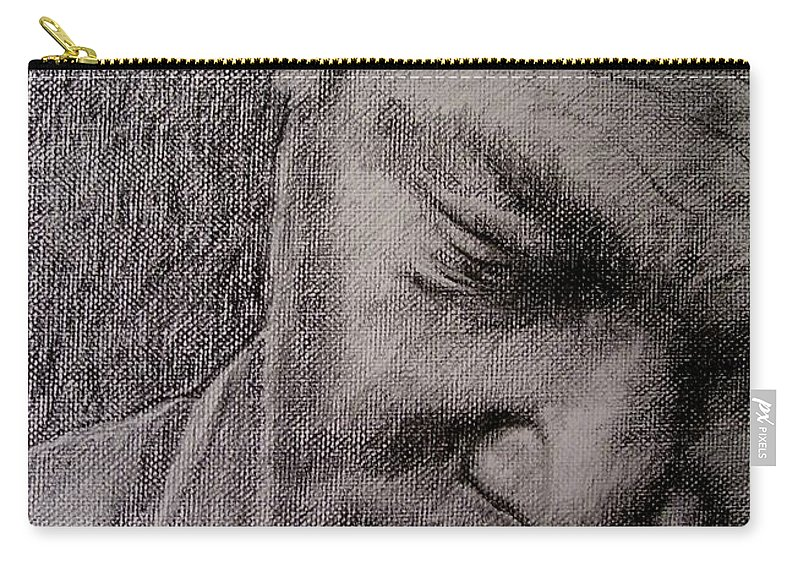 Bbking Carry-all Pouch featuring the painting Bbking by Frances Marino